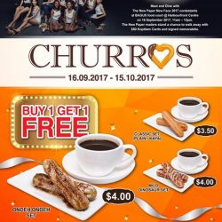 [Kopitiam] Join us at Bagus Harbourfront Centre later at 11am for the launch of Churros and to meet the New Face