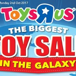 "[Babies'R'Us] The Biggest Toy Sale in the galaxy is happening right now at Toys""R""Us!"