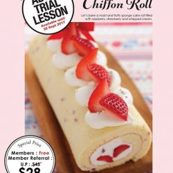 [ABC Cooking Studio] In conjuction with Cake Master renewal, we would like to introduce Premium Trial Lesson - Strawberry Chiffon Roll!