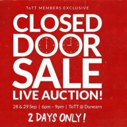 [ToTT Store] Just a few more hours till our first Closed Door Sale!