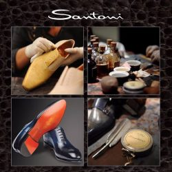 [Uomo Collezioni] Sip a champagne and witness the mastery of Santoni's Italian Master Artisan exclusively at @uomocollezioni.