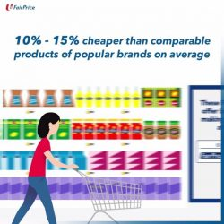 [NTUC FairPrice] Enjoy great savings with a wide range of good value and quality daily essentials that are priced on average 10% -