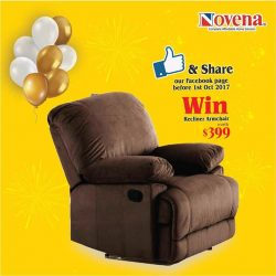 [Novena] Celebrating our anniversary sale, our Shaw Plaza showroom is giving out a recliner armchair!
