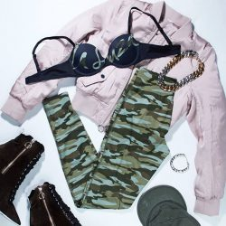 [La Senza Singapore] We love ourselves some sexy camo 💅 Get your Luxe Bra & Panty set at Buy 1 Get 1 FREE at your