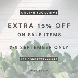 [MDSCollections] Extra 15% OFF on sale items | Don't miss it !