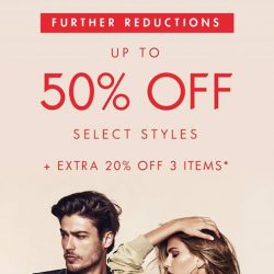 [GUESS Singapore] SALE ON SALEFurther reductions on sale items in GUESS boutiques islandwide.