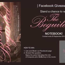 [Filmgarde Cineplex] Stand a chance to win The Beguiled Movie Notebook Premiums!
