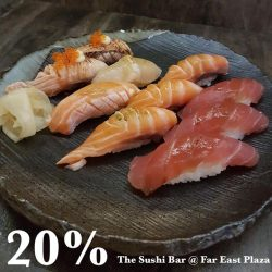 [The Sushi Bar Dining] Last day of our Sushi 20% promo from 11.