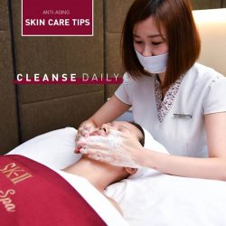 [SK-II Boutique Spa] Cleanse your face every morning and night to avoid bacteria build-up and excessive sebum!