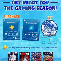 [GAME XTREME] Get a 1 year PS Plus card now and get a Playstation Towel FREE for a limited period now~!