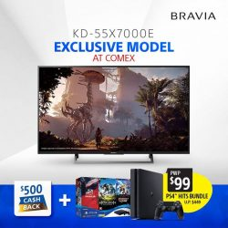 [Sony Singapore] Get exclusive promotions for the 55-inch BRAVIA X7000E Series at COMEX and ITSHOW 2017!