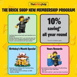 [The Brick Shop] The Brick Shop is here with more benefits for its members!