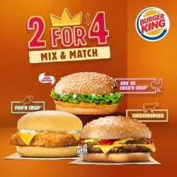 [Burger King Singapore] We have new additions to our 2 for $4 burgers.