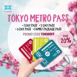 [Changi Recommends] Explore Tokyo with unlimited train rides on all Tokyo Metro and Toei Subway lines.