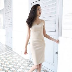 [MDSCollections] Elisa Dress in Beige | One of our online best sellers, on sale