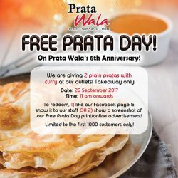 [Prata Wala] Come celebrate our 8th anniversary with us!