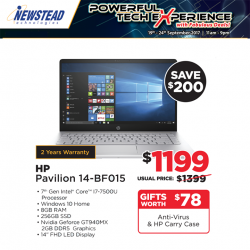 [Newstead Technologies] Save up to $200 and receive gift worth up to $128 on the following notebooks, only at Newstead Marina Square