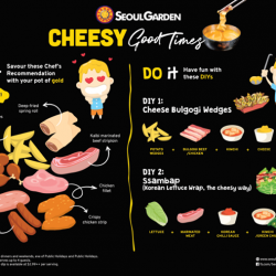 [Seoul Garden Singapore] Can't get enough of our nacho and mozzarella Cheese Dip*?