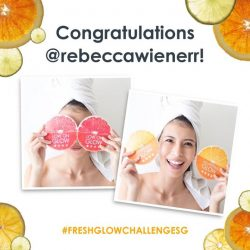 [Fresh] Congratulations to our 4th and final weekly FreshGlowChallengeSG winners, @allegaze and @rebeccawienerr!