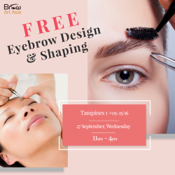 [BROW ART ASIA] Here's our last FREE Eyebrow Design & Shaping for the month!