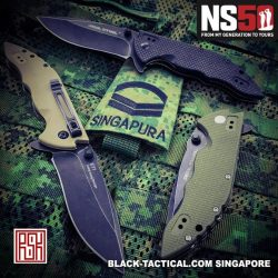 [Black-Tactical.com] Use your NS50 Vouchers to get a solid RealSteel E77 Tactical Knife for your outfield!