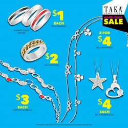 [Taka Jewellery Treasures] C'mon over to TAKA Jewellery's Warehouse Sale at Bedok Town Square, happening now till 10 Sept 2017 from