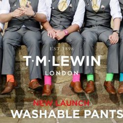 [T. M. Lewin] The Cavil trouser pairs a smart look with exceptionally comfortable wear.