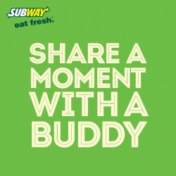 [Subway Singapore] Sharing is caring.