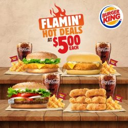 [Burger King Singapore] We've brought back the BK CHICK'N CRISP® w/ CHEESE and the 6PCS BK NUGGETS® meal to our Flamin'