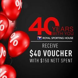 [Royal Sporting House Singapore] Get to our stores for the last 4 days of our 40th anniversary celebrations!