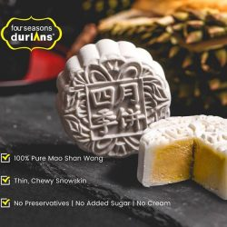 [Four Seasons Durians] THE REAL DEAL: Order authentic Mao Shan Wang durian mooncakes online today at https://goo.