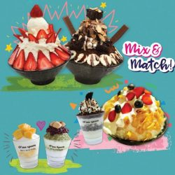 [O'ma spoon Korean Dessert Cafe] Get your 2nd bingsu @half price!