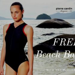 [Pierre Cardin] Sweeten things up this SundayFunday with a free beach bag with any purchase from the Energized Swim collection!