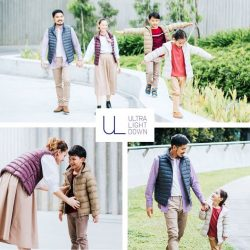 [Uniqlo Singapore] No matter where your family vacations take you, Ultra Light Down is light on packing but offers protection from rain