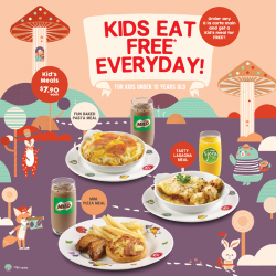 [Pizza Hut Singapore] We kid you not – children under 10 will get to enjoy their own meal FREE with every a la carte