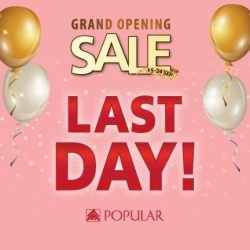 [POPULAR Bookstore] LAST DAY of the POPULAR Jurong Point Opening Sale!