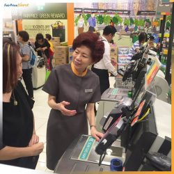 [NTUC FairPrice] A member of the Pioneer Generation (PG) herself, Dolly Yap understands that touchscreen and self checkout may not come as