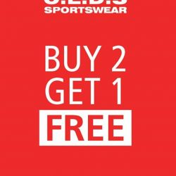 [C.E.D.S Sportswear] Buy any 2 regular items and FREE 1 item* (whichever the lowest price item).