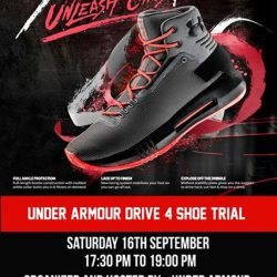 [Hoops Factory] Test drive the latest basketball sneaks by Under Armour: The UA Drive 4!