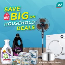 [Watsons Singapore] We've got your house covered with UP TO 80% OFF on household deals.