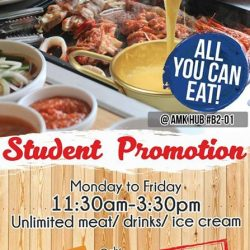 [Daessiksin 大食神] Hey Student promotion now at amkhub Daessikisin Korean bbq buffet and Danro Collagen Hotpot Buffet!