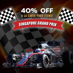 [Mad for Garlic] In conjunction with the Singapore Grand Prix, Mad for Garlic is offering a 40% Discount on a la carte menu