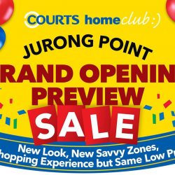 [Courts] We've got a special treat for HomeClub members 😉Take a sneak peek into the newly renovated COURTS Jurong Point