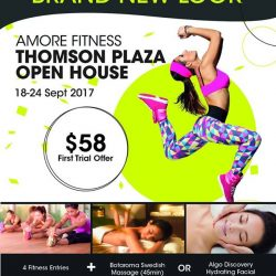 [Amore Fitness] With a brand new look at Thomson Plaza, join us at our open house with exclusive promotions and workouts from