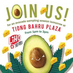 [Gong Cha Singapore] Join us for an Avocado sampling session at Tiong Bahru Plaza tomorrow from 1pm to 3pm.