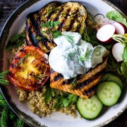 [THE SEAFOOD MARKET PLACE BY SONG FISH] Grilled Salmon Bowls with Yogurt SauceGoing Healthy?