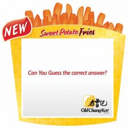 [Old Chang Kee Singapore] Congratulations to all the Sweet Potatoes facebook Contest winners!