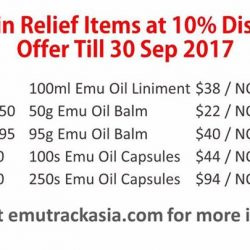 [The Box Societe] 10% discount for all Emu oil pain relief products!