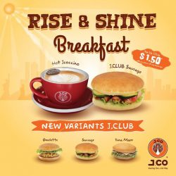 [J.Co Donuts & Coffee] If you are working in the Paya Lebar area, do drop by our Paya Lebar Square store for our breakfast