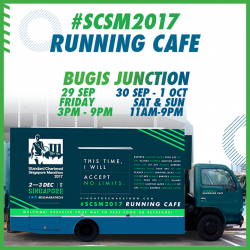 [Standard Chartered Bank] Pop by the Standard Chartered Singapore Marathon running cafe this Saturday at Bugis Junction, and win specialty coffee and food